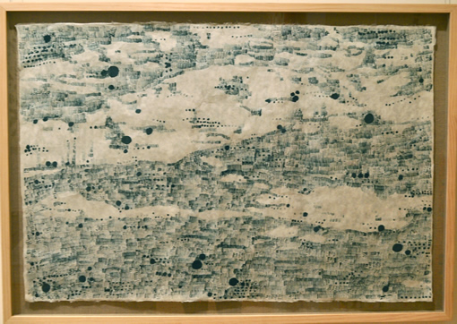 Sally Taylor - Painting: Dune Map: Aqua on