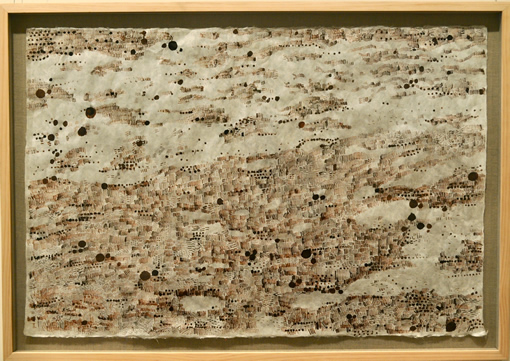 Sally Taylor - Painting: Dune Map: Sepia on